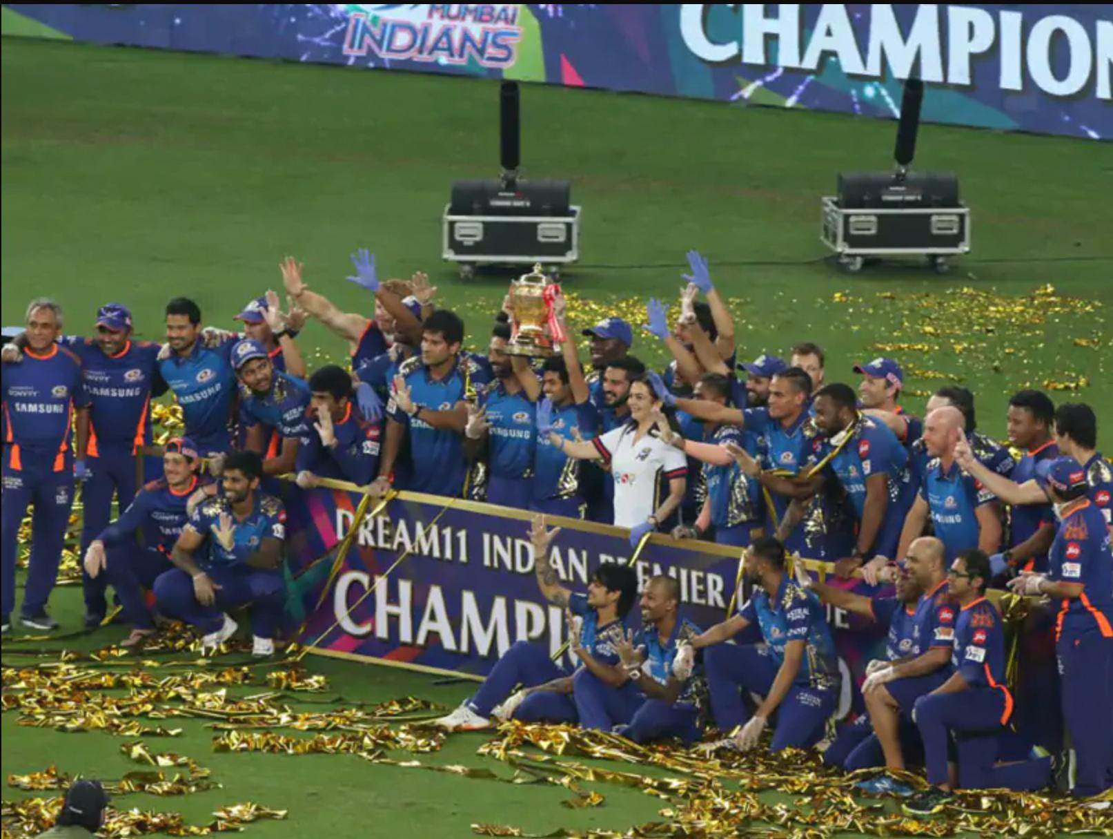 mumbai indians ipl 2020 champions